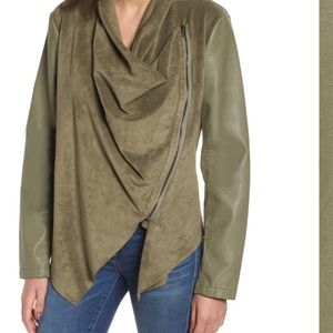 Nwot Blank NYC Olive Green Faux Cowl Neck Cardigan